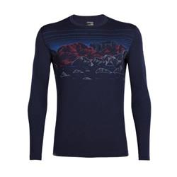 Icebreaker Oasis LS Crewe - Sky Night - Mens-Midnight Navy