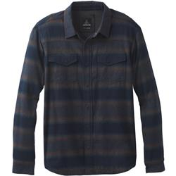 Prana Asylum LS Flannel - Mens-Black Heather