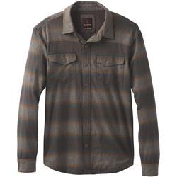 Prana Asylum LS Flannel - Mens-Scorched Brown Heather