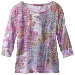 Prana Bouquet Top - Womens-Deep Fuchsia Springtime
