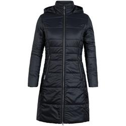 Icebreaker Stratus X 3Q Hooded Jacket- Womens-Black / Jet Heather
