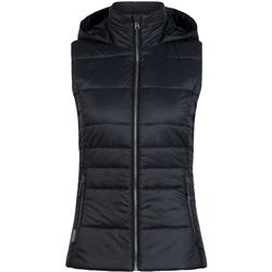 Icebreaker Stratus X Hooded Vest- Womens-Black / Jet Heather