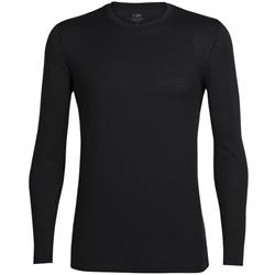 Icebreaker Tech Lite LS Crewe- Mens-Black