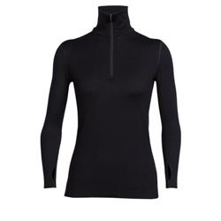 Icebreaker Tech Top LS Half Zip - Womens-Black
