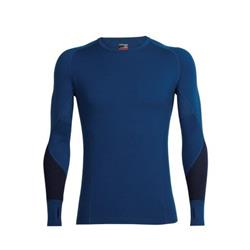 Icebreaker Winter Zone LS Crewe - Mens-Largo / Midnight Navy / Cadet