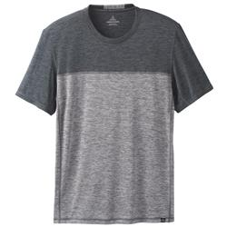 Prana Hardesty Colorblock SS - Mens-Titanium Grey