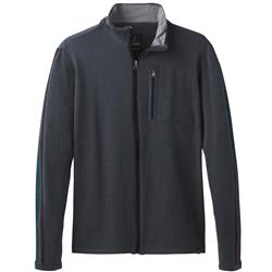 Prana Holberg Full Zip Sweater - Mens-Coal