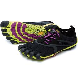 Vibram Five Fingers V-Run - Black / Yellow / Purple - Womens-Not Applicable