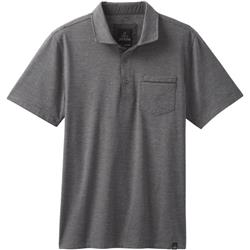 Prana Pacer SS Polo - Mens-Charcoal