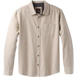 Prana Woodman Flannel LS - Mens-Dark Khaki