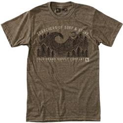 Hippy Tree Channel Tee - Mens-Heather Brown