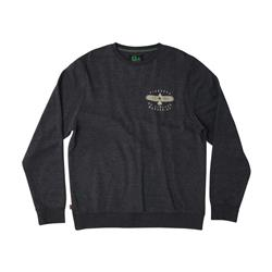Hippy Tree Tetons Crew - Mens-Heather Black