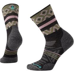 Smartwool PhD Outdoor Light Pattern Mid Crew Socks - Womens-Charcoal