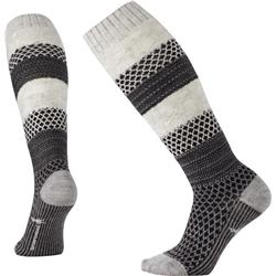 Smartwool Popcorn Cable Knee High Socks - Womens-Winter White Donegal