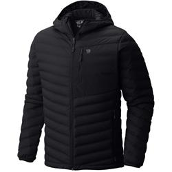 Mountain Hardwear StretchDown Hooded Jacket - Mens-Black