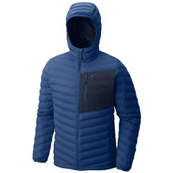 Mountain Hardwear StretchDown Hooded Jacket - Mens-Nightfall Blue