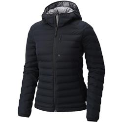 Mountain Hardwear StretchDown Hooded Jacket - Womens-Black