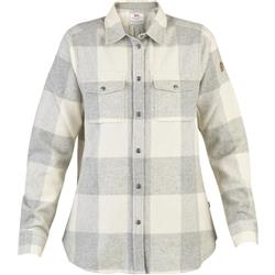 Fjallraven Canada LS Shirt - Womens-Fog / Chalk White