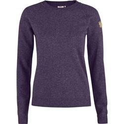 Fjallraven Ovik Re-Wool Sweater - Womens-Alpine Purple