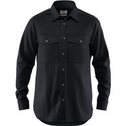 Fjallraven Ovik Re-Wool Shirt LS - Mens-Black