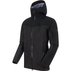 Mammut Crater HS Hooded Jacket - Mens-Phantom / Black