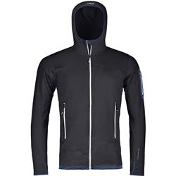 Ortovox Fleece Light Hoody - Mens-Black Raven