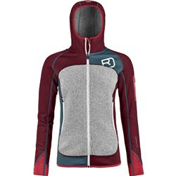 Ortovox Fleece Plus Hoody - Womens-Dark Blood