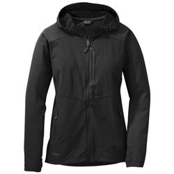 Outdoor Research Ferrosi Hooded Jacket - Womens-Black