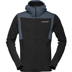 Norrona Falketind Warm1 Stretch Zip Hoodie - Mens-Caviar