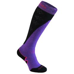 Bridgedale Mountain Merinofusion Ski Socks - Womens-Purple / Black