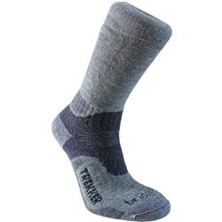 Bridgedale Trekker Woolfusion Socks - Mens-Grey / Dark Grey