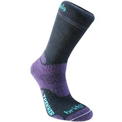 Bridgedale Trekker Woolfusion Socks - Womens-Black / Purple