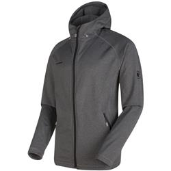 Mammut Runbold ML Hooded Jacket - Mens-Black Melange