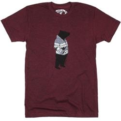 Westcoastees Sweater Bear T-Shirt - Unisex-Maroon