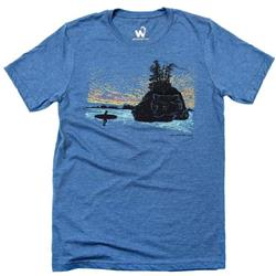 Westcoastees West Coast Dreaming T-Shirt - Mens-Blue