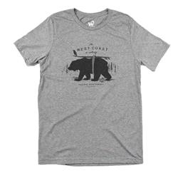 Westcoastees West Coast is Calling T-Shirt - Mens-Light Grey
