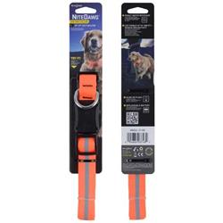 Nite Dawg LED Dog Collar - Large - Orange
