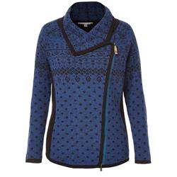 Royal Robbins Autumn Pine Zip Cardigan - Womens-Indigo Night
