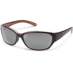 Suncloud Duet, Black Backpaint Frame, Polarized Gray Lens-Not Applicable