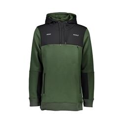 Mons Royale Transition Hoody - Mens-Forest Green / Black