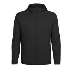 Icebreaker Coriolis Hooded Windbreaker - Mens-Black