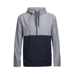 Icebreaker Escape Hooded Pullover - Mens-Fathom Heather / Midnight Navy