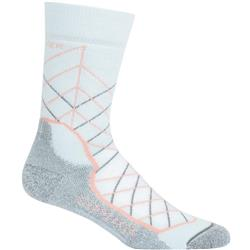 Icebreaker Hike+ Crew Socks - Medium Cushion - Metric - Womens-Dew / Sorbet / Metal