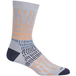 Icebreaker LifeStyle Crew Socks - Ultralight Cushion - Colorful Rain - Unisex-Fossil / Midnight Navy / Koi