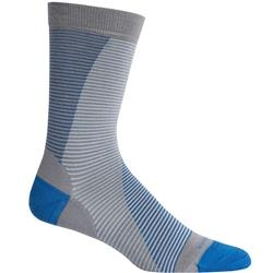 LifeStyle Crew Socks - Fine Gauge Ultralight Cushion - Leaning Ladders - Unisex