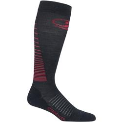 Icebreaker Multisport+ Compression OTC Socks - Womens-Jet Heather / Prism / Black