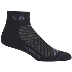Icebreaker Run+ Mini Socks - Light Cushion - Mens-Black / Monsoon