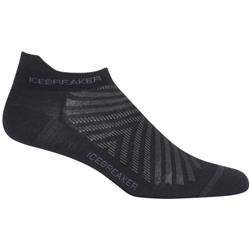 Icebreaker Run+ Micro Socks - Ultralight Cushion - Mens-Black / Monsoon