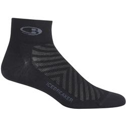 Icebreaker Run+ Mini Socks - Ultralight Cushion - Mens-Black / Monsoon