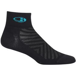 Icebreaker Run+ Mini Socks - Ultralight Cushion - Womens-Black / Lagoon